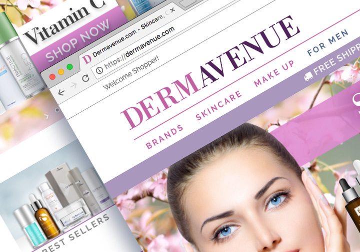 hilton design, Dermavenue.com UX & UI ecommerce website design